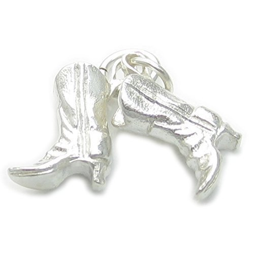 cowboy-boots-sterling-silver-charm-925-x-1-cowboys-cowgirls-charms-pjpc153