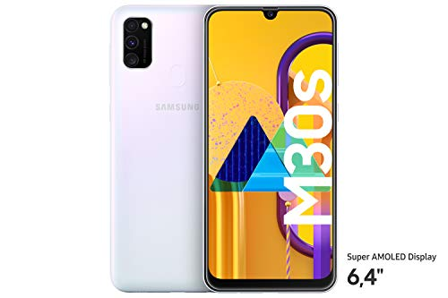 "Samsung Galaxy M30s Smartphone 64GB 6.4"" FHD+ Android 9 Pie - Deutsche Version - Weiß [Exklusiv bei Amazon]"