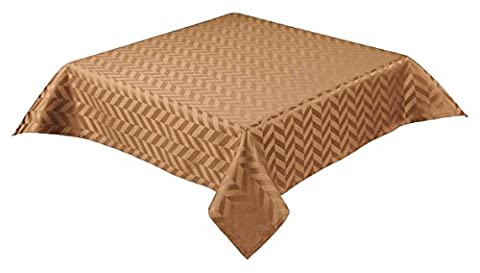 13 x 72 inch (33 x 183cm) table runner with self coloured jaquard Geo Metric design choice of 7 colours (Monte Carlo) (Coffee