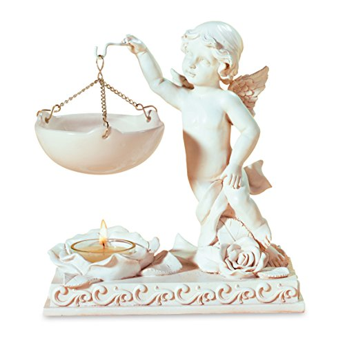 pajoma Duftlampe Engel mit Rose, Kunstharz, Höhe 20 cm