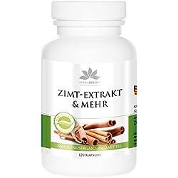 Extracto de canela y más - herba direkt - 120 comprimidos - 10 veces más concentración de cromo y zinc