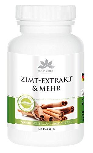 herba direkt - ZIMT EXTRAKT & MEHR10fach konzentriert mit Chrom und Zink