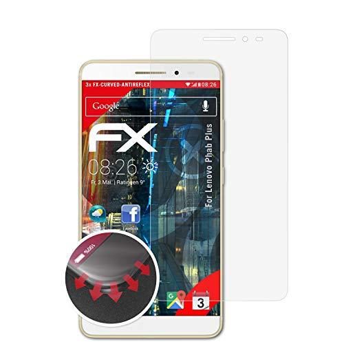 atFolix Schutzfolie passend für Lenovo Phab Plus Folie, entspiegelnde & Flexible FX Bildschirmschutzfolie (3X)