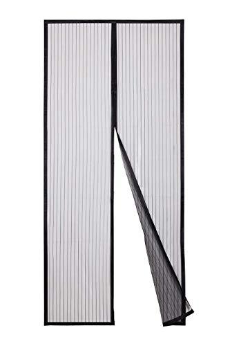 Sekey Magnet Fliegengitter Tür Vorhang für Holz, Eisen, Aluminium Türen und Balkon. Einfache Installation (200 x 80cm, Schwarz)