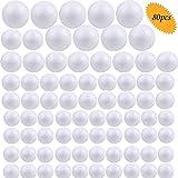 Bluesees - Sfere in schiuma di polistirolo bianco per decorazioni artistiche, artigianato, decorazioni della casa e progetti scolastici, in 4 misure, confezione da 80