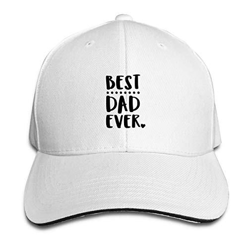 Unisex Baseball Cap, Best Dad Ever Hip Hop Hat,Personalized Hat,Custom Hat Snapbacks for Outdoor Indoor Sporting White Custom Fit, Vintage-hut