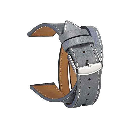 Preisvergleich Produktbild TianranRT Doppelt Tour Leder Zubehör Band Ersatz Armband Doppel für Apple Watch 4 (D, 40MM)