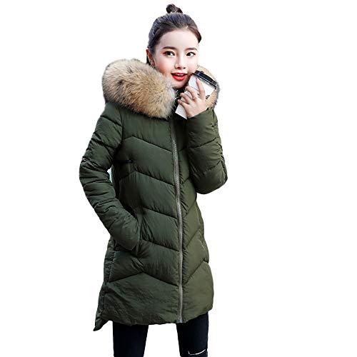 TianWlio Mäntel Frauen Damen Mantel Langarm Strickjacke Jacke Outwear Mantel Oberbekleidung Pelz mit Kapuze Mantel Lange Baumwolle Gefütterte Reißverschluss Jacken Taschen Mäntel
