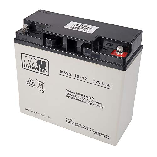 PNI ACC1812 Batteria Gel, Nero/Grigio