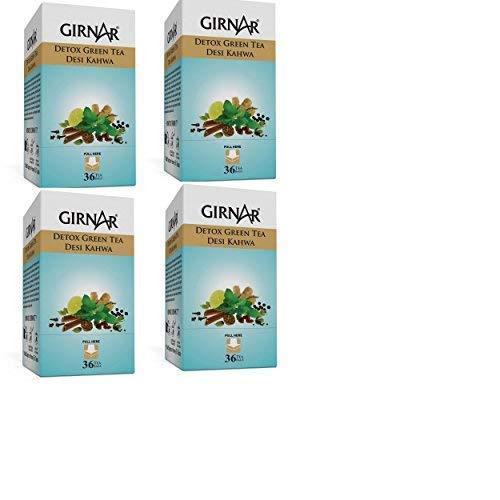 Girnar Detox Green Tea (36 Tea Bags) Pack of 4