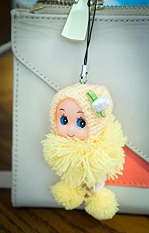 Charm poupée 10cm boucle Pompon bonnet à pompon DDUNG Coffret cadeau bébé fille en vinyle souple jouer réaliste Fluffy kawaii mignon insolite Sweet