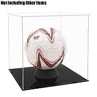 Tingacraft - Acrylic Display Case (30 x 30 x 30 cm) for Football, Self-Assembly
