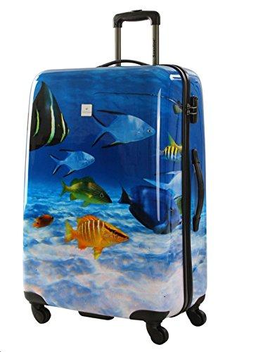 Saxoline Koffer Fisch Fish Tank ABS - Polycarbonat Hartschalenmix Koffer Größe M Hartschale Reisekoffer Trolley Case Fa. Bowatex (Tank Mit Fisch)