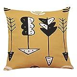 sunnymi Bett Kissen Cover Sofa Kissenbezug,Schwarz Weiß Symbol Geometrie,Bettwäsche Schlafsofa Babybett (F, 45 * 45cm)