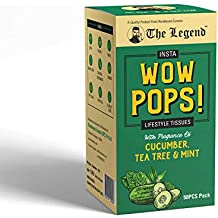 The Legend Insta Wow Pops Lifestyle Tissues with Fragrance of Cucumber Tea Tree & Mint, 50 Units