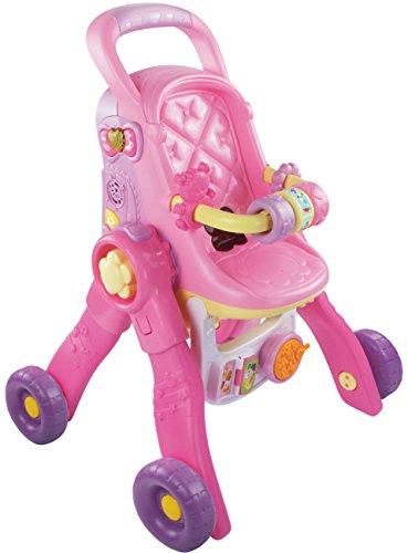 VTech Little Love 3 in 1 Poppenwagen - Accesorios para muñecas (1,5 año(s), Rosa, 6 año(s), De plástico, Chica, CE)