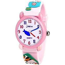Tisy Regalos para Niñas DE 4-9 Años, Único Relojes para Niños Regalos para Niñas de 3-12 Años Juguetes para Niñas de 3-12 Años Gato TSUKWH04