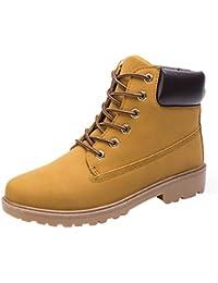 Landfox Botas de tobillo de los hombres forrado Martin caliente calza los zapatos