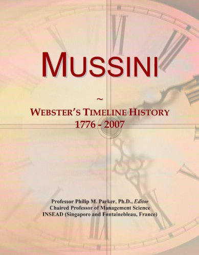 Mussini: Webster's Timeline History, 1776 - 2007