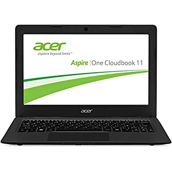 Acer Aspire One 11 (AO1-131-C58K) 29,46 cm (11,6 Zoll HD) Notebook (Intel Celeron N3050, 2GB RAM, 32GB eMMC, Intel HD Graphics, Win 10 Home) mineral- dunkel grau