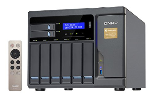 "QNAP TVS-882T-i5-16G  NAS/ DiskStation ""TVS-882T-16G / 8-Bay/ TurboNAS /  SATA 6G /  4-LAN / 3.6 GHz"""