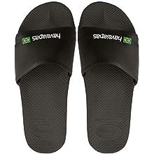 Havaianas Slide Brasil, Unisex Adult's Flip Flops, Black(Black), 6.5 UK(41/42 EU) (39/40 Brazilian)