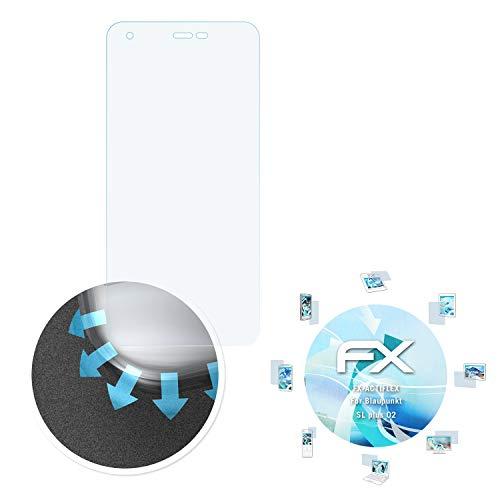 atFolix Schutzfolie passend für Blaupunkt SL Plus 02 Folie, ultraklare & Flexible FX Bildschirmschutzfolie (3X)