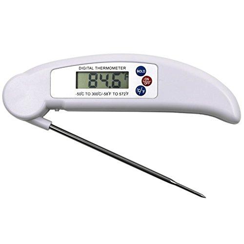 Thermometer für Fleisch, schnell lesen und präzise Faltbarer Digitales Thermometer mit Sonde für Candy/Fleisch Küche, Grill, Geflügel, Grill ()