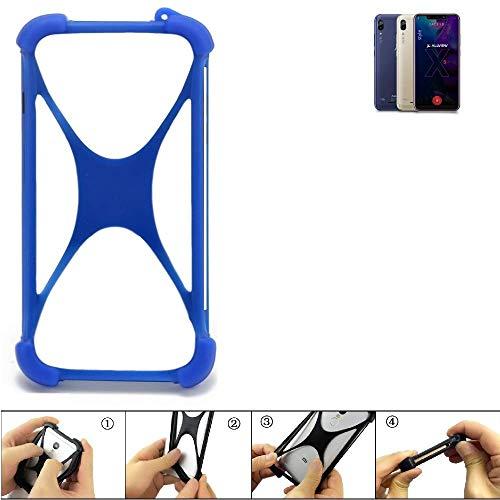 K-S-Trade Handyhülle für Allview Soul X5 Style Silikon Schutz Hülle Cover Case Bumper Silikoncase TPU Softcase Schutzhülle Smartphone Stoßschutz, blau (1x)