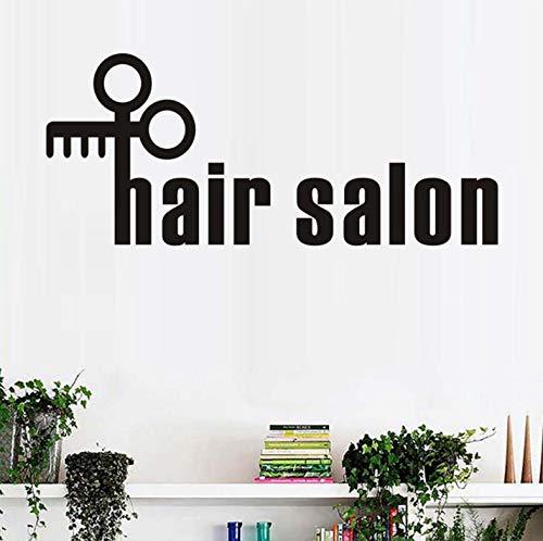 Kreativ Hair Salon Wandaufkleber Schere Friseur Applikationen Barber Shop -Fenster -Plakat -Kunst -Vinylwand -DekorApplikationen79x42cm -