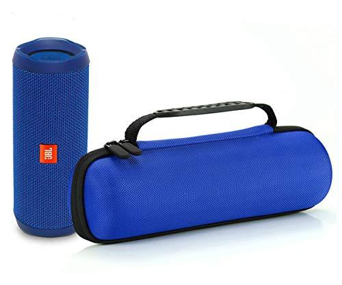 L3 Tech Étui Rigide Housse de Transport pour JBL Flip 4 / JBL Flip 3 sans Fil Enceinte Portable Bluetooth,Adapté au câble USB et au Chargeur Mural-Bleu
