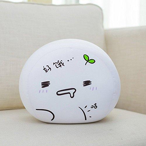 Office-sofa (chezmax Cute Spandex dekorativer Überwurf-Kissenbezug für Home Office Sofa Stofftiere Rückenkissen Creative weiß Kaomoji Puppe für Kinder, Muster 10, 15.7