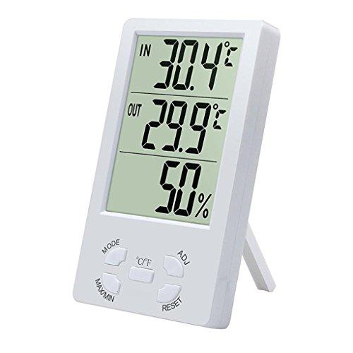 Indoor LCD Digital Elektronische Thermometer Hygrometer Feuchtigkeitsmesser Wecker Celsius Fahrenheit Temperaturanzeige Flache Lcd-thermometer