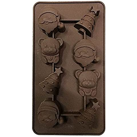 Natale silicone di disegno del vassoio di ghiaccio del cioccolato