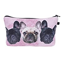 Smallbox Fashion Make Up Bag Cover Case Cosmetics School Pencil Case Hipster Design for girls and ladies (pugs)