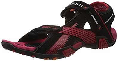 Sparx Men's Black and Red Athletic and Outdoor Sandals - 10 UK/India (44 EU)(SS0433G)