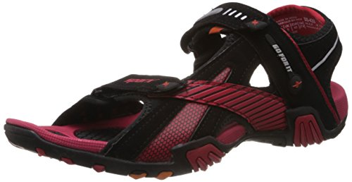Sparx Men's Black and Red Athletic and Outdoor Sandals - 9 UK/India (43 EU)(SS0433G)