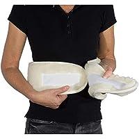 sanolind® Orthopädischer Nierenwärmer aus 100% Merino Wolle. Rückenwärmer, Wärmegürtel, bei Nierenschmerzen, Blasenschwäche oder Bauchschmerzen. Größe 2 (100-130 cm Bauchumfang)
