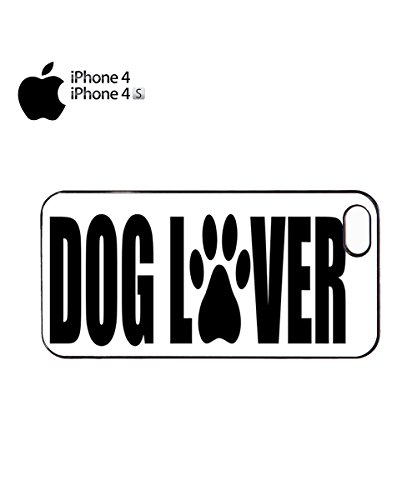 Dog Lover Paw Cute Mobile Cell Phone Case Cover iPhone 6 Black Noir