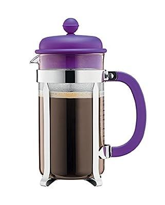 Bodum Caffettiera 8 Cup, 1L Cafetiere Coffee Maker, Purple by Bodum