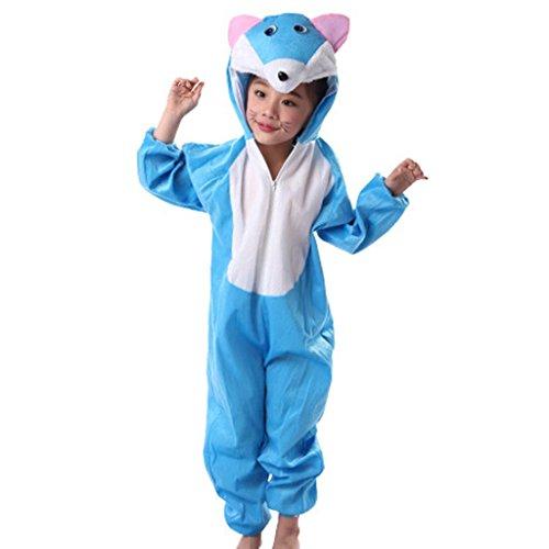 Die Casual Kits Kindergarten Blue Cats Collection Kinderkostüm Schule Spielen Party Kleidung . 2# . 130Cm (Black Cat-zubehör Für Kostüm)
