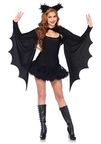 Leg Avenue Cozy Bat Fledermaus Damen Kostüm schwarz (Kostüme Fancy Dress Bat)