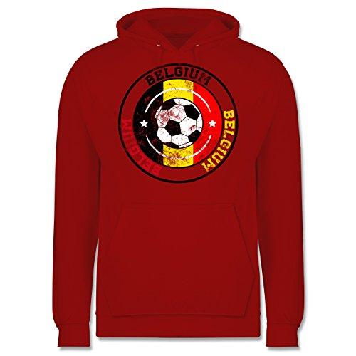 EM 2016 - Frankreich - Belgium Kreis & Fußball Vintage - Männer Premium  Kapuzenpullover / Hoodie