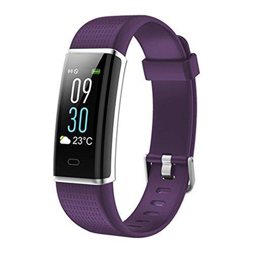 Intelligentes Armband Wasserfestes Bluetooth Smartwatch für Smartphone Schrittzähler Echtzeit-Herzfrequenz-Überwachung Pulsmesser Fitness Tracker Schlafmonitor Kalorienzähler Vibrationsalarm Anruf