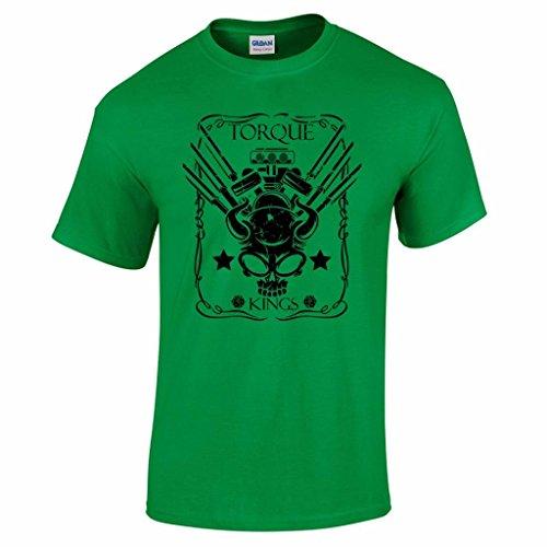 Tuning Fans Torque Kings Motortuning #11 T-Shirt Autofan Autosport Herren Shirt Grün XXL