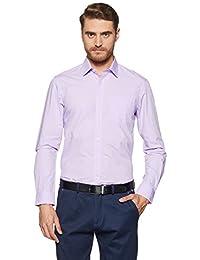 Arrow Men's Plain Slim Fit Cotton Formal Shirt