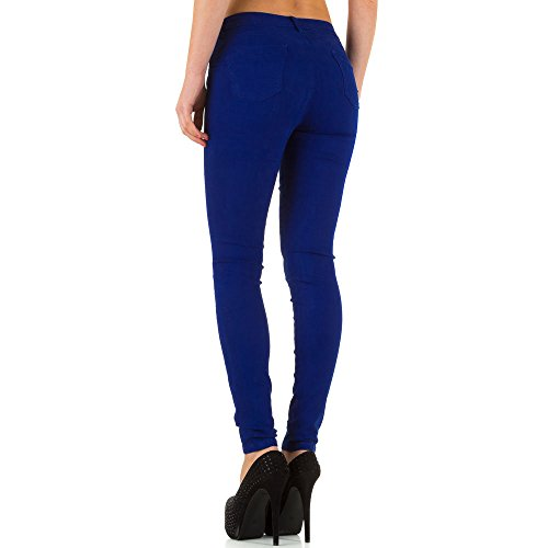 Damen Jeans Hose Jeanshose Stretch Skinny Röhre Bleistifthose Röhrenhose Blau Blau
