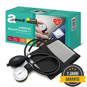 Amed Professional Manuell Aneroid Blutdruckmessgerät mit Stethoskop