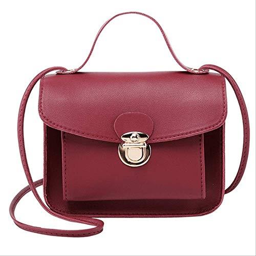 ZQHY UmhängetascheFrauen Messenger Bags Frau Tasche Berühmte Marken Frauen Mode Einfarbig Abdeckung Schloss Schulter Crossbody Telefon StrandtascheRot -