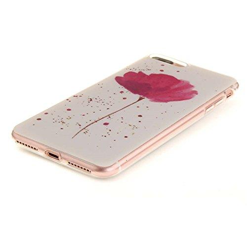 Hülle für Apple iPhone 7 Plus 5.5 zoll hülle Dünn Stil Licht Flexibel TPU Gel Case Bumper Malerei Muster Schwarz Löwe Farbe-5